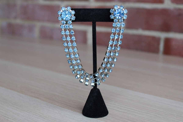 Light Blue Rhinestone Sweater Guard