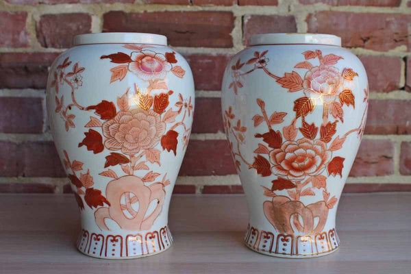 Andrea by Sadek (Japan) Urn-Shaped Porcelain Lamp Bases or Vases, A Pair