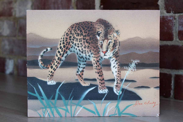 Original Acrylic Painting of a Spotted Leopard