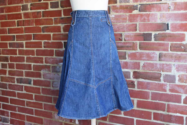 Adrienne Vittadini Denim Swing Skirt, Size 10