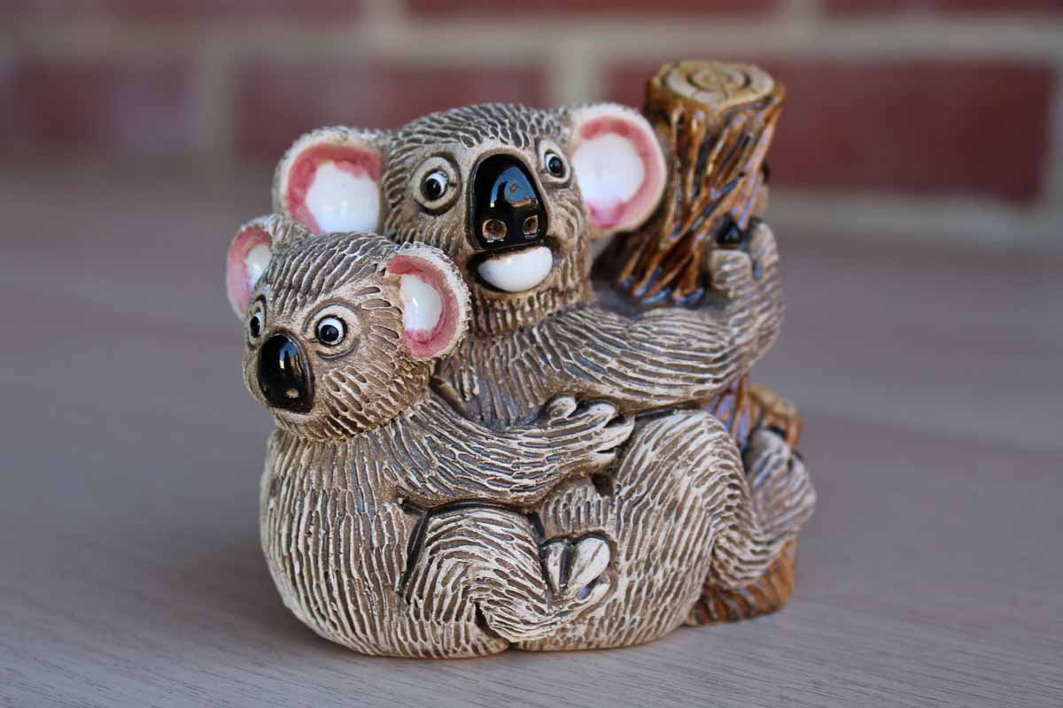 "Coad (Peru) 3"" Koala Bear Mother and Baby Figurine"