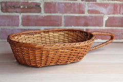 Hand Woven Basket with Long Handle