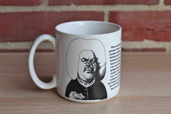 Largely Literary Designs, Inc. (North Carolina, USA) Johann Sebastian Bach Caricature Ceramic Mug