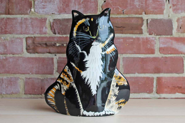 Ceramic Tortoiseshell Cat Vase Made by Nina Lyman