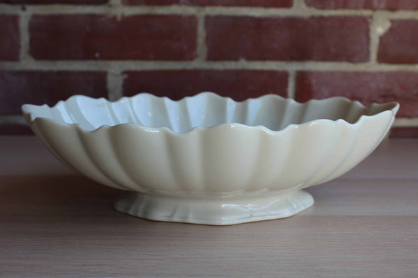 Lenox (USA) Large Oval Ivory Bowl with Scalloped Rim
