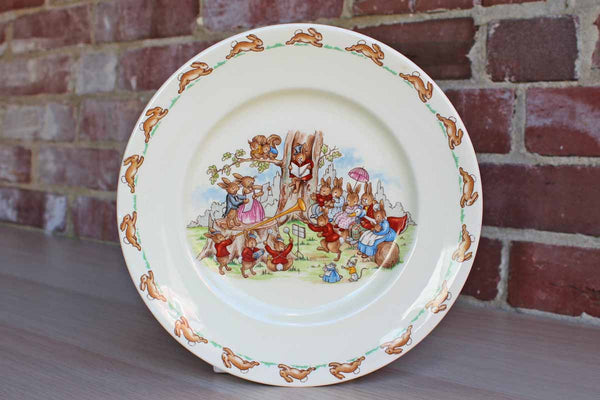 "Royal Doulton (England) Bunnykins ""The Duet"" Luncheon Plate"