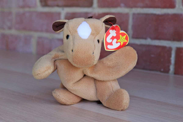Ty Inc. (Illinois, USA) 1995 Derby the Horse with Mark on Forehead Beanie Baby