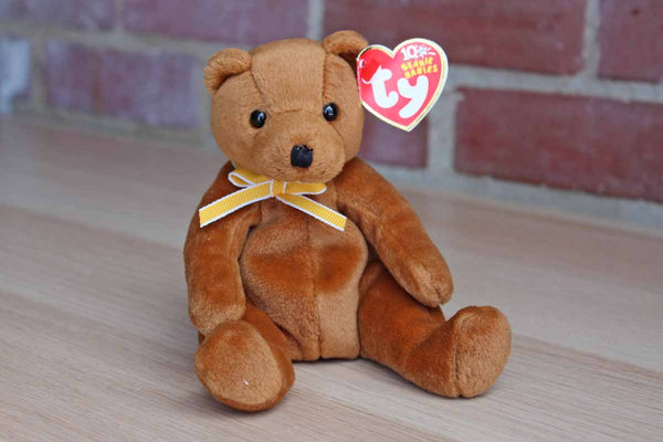 Ty Inc. (Illinois, USA) 2002 Sherwood the Brown Bear Beanie Baby