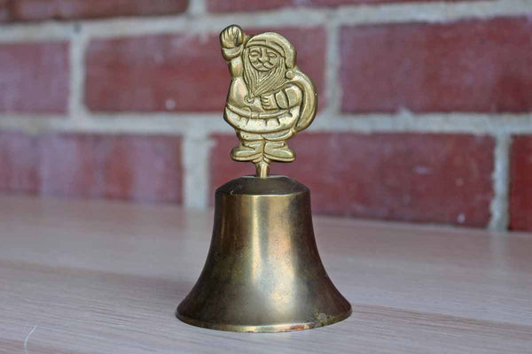 Brass Bell with Santa Finial
