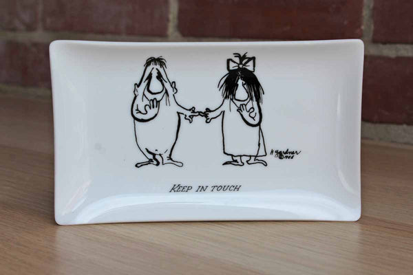 Bernad Creations (Yonkers, New York) The Nebbishes by Hugh Gardner Glass Dish