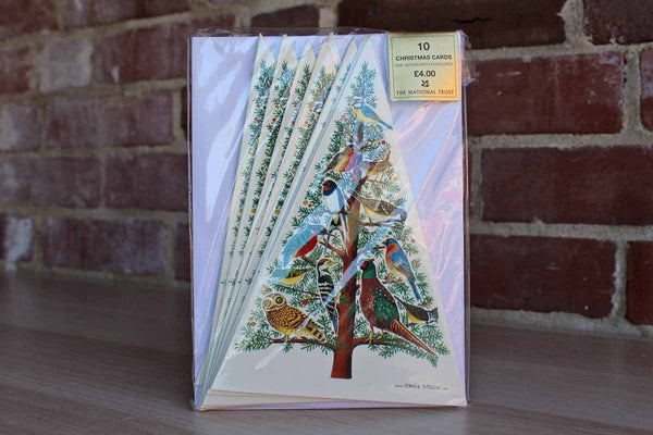 10 Christmas Cards in Yew Tree Designed by Carla Steen from The National Trust