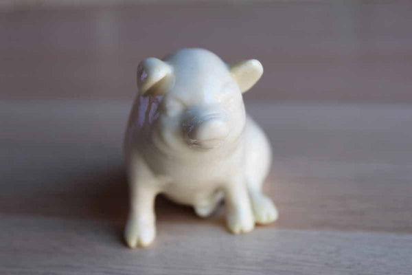 Belleek (Ireland) Porcelain Pig Figurine