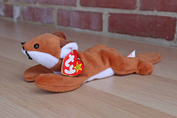 Ty Inc. (Illinois, USA) 1996 Sly the Tan and White Fox Beanie Baby