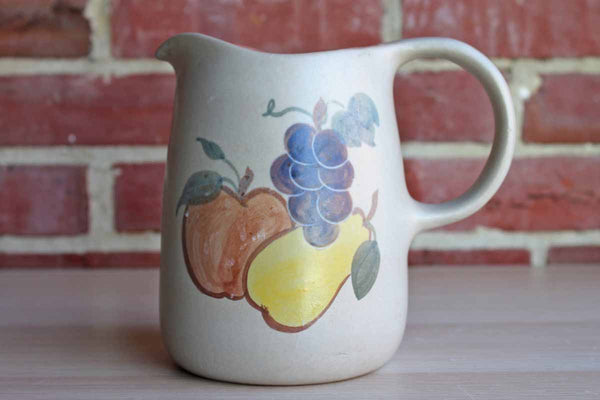Stoneware Serving Pitcher with Apple, Pear and Grapes