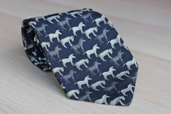 Robert Talbott (California, USA) Silk Necktie Decorated with Donkeys