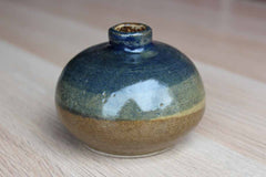 Small Round Studio Pottery Earthenware Bud Vase