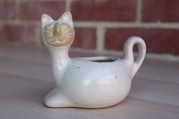David Stewart Lion's Valley Pottery Stoneware Miniature Cat Planter