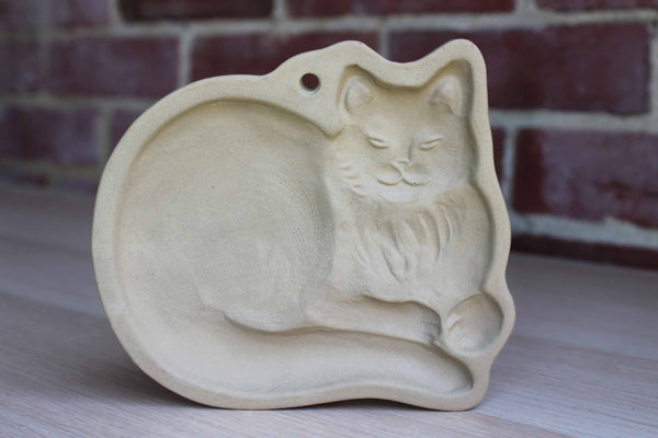 Brown Bag Cookie Art (New Hampshire, USA) 1988 Ceramic Cat Cookie Mold by Hill Design