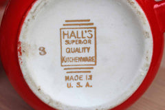 Hall China Company (Ohio, USA) Red and White Tea Service