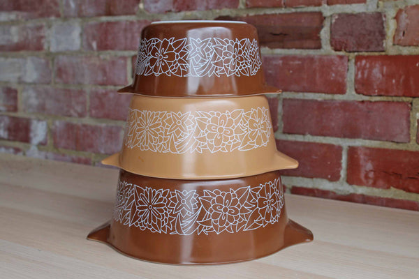 Corning Inc. (New York, USA) Pyrex Woodland Brown Casserole Dishes (No Lids)