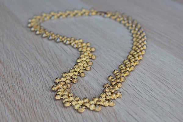 Knobby Gold Tone Chain Link Necklace