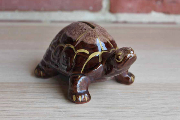 Hand Decorated Turtle Coin Bank, Made in Japan