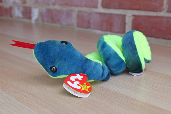 Ty Inc. (Illinois, USA) 1997 Hissy the Coiled Snake Beanie Baby