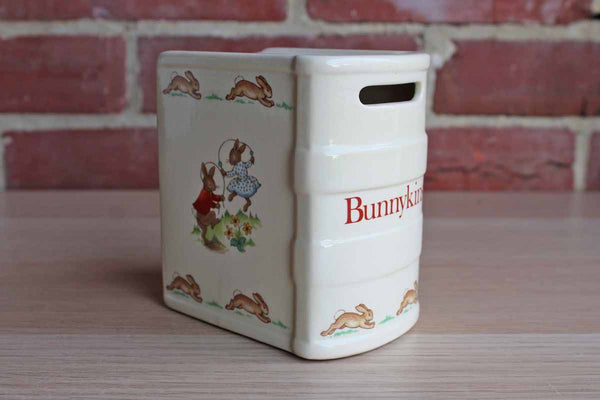 Royal Doulton (England) Bunnykins Coin Bank Shaped Like a Book