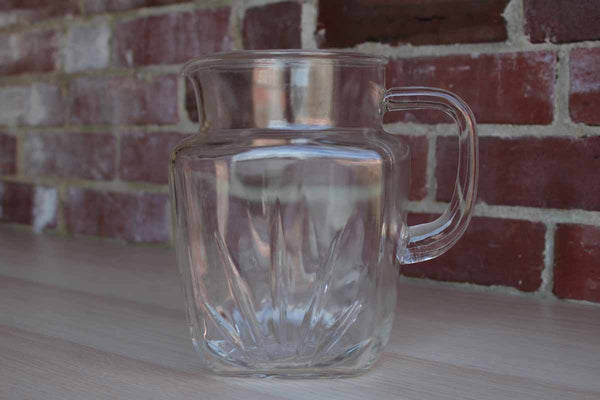 "Federal Glass Company (Ohio, USA) Large Glass ""Star Clear"" Handled Pitcher"
