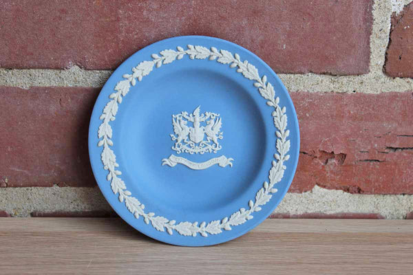 "Wedgwood (England) Blue Jasperware ""City of London"" Patrician Tray"