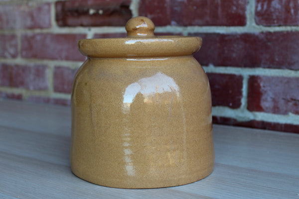 Handmade Gold Glazed Stoneware Storage Container