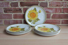 Jonas Roberts (Japan) Esperanto Sunshine Snack Plates, Set of 8