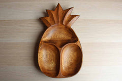 Monkey Pod (Philippines) Wood Pineapple Shaped Divided Server