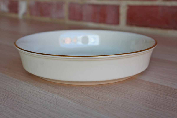 Lenox (USA) Special Round Ivory China Shallow Bowl with Gold Rim