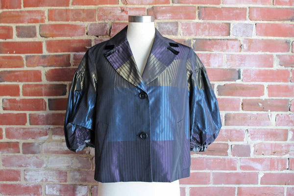 Etro (Italy) Shimmery Glamorous Jacket with Balloon Sleeves