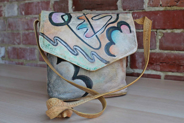Botary (New York, USA) Genuine Leather Handpainted Purse