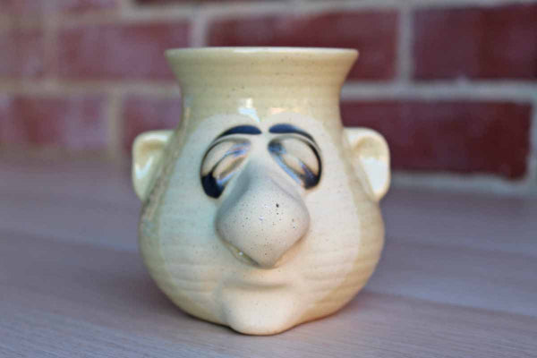 Peter Petrie Designs Ceramic Man with Large Nose Garlic Storage Container