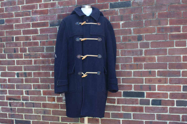 Lodenfrey (Munich, West Germany) Navy Blue Wool Coat with Toggle Buttons