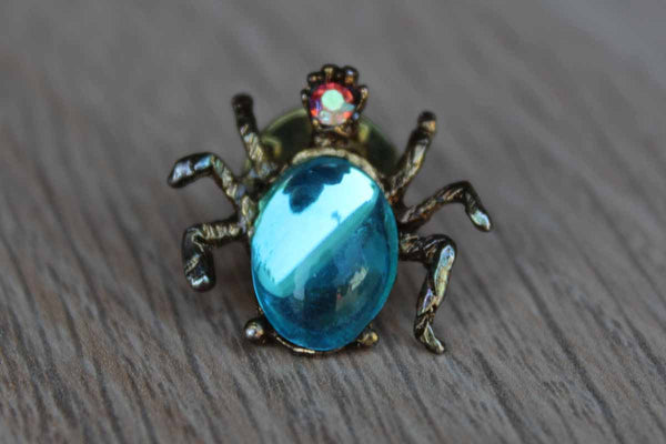 AJC Jewelry (New York, USA) Translucent Blue Jelly Belly Bug Brooch
