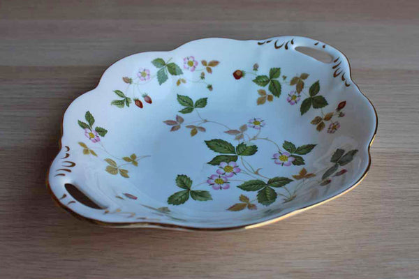 Wedgwood (England) Wild Strawberry Handled Dish