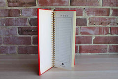Photo Album with Red Cloth Cover, Made in Japan