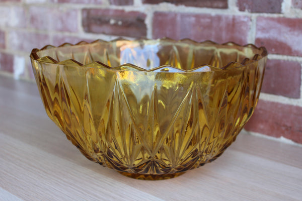Hazel Atlas Glass Company (West Virginia, USA) Large Williamsport Amber Glass Serving Bowl