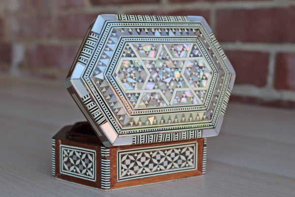Dessert Designs (Egypt) Mother-of-Pearl Inlay Wooden Box