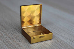 Mother of Pearl and Brass Pill Box with Snap Closure