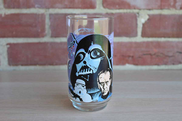 Burger King 1977 Limited Edition Star Wars Glass Featuring Darth Vader and Moff Tarkin