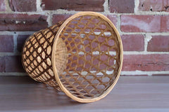 Open Weave Wicker Storage Basket