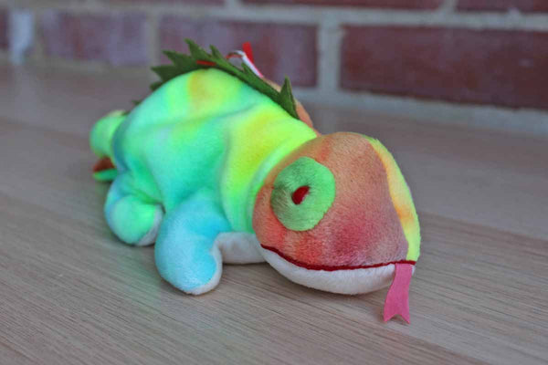Ty Inc. (Illinois, USA) 1997 Iggy the Tie-Dyed Iguana with Red Tongue Beanie Baby