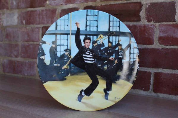 "Elvis Presley Enterprises Inc. Limited Edition ""Jailhouse Rock"" Plate by Bruce Emmett"