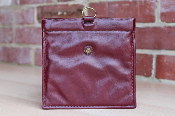 Etienne Aigner (New York, USA) Antic Red Leather Small Flex Frame Purse
