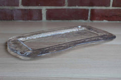 Clear Crinkled Glass Tray